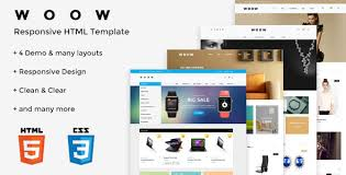 woow html ecommerce template themelock com free premium