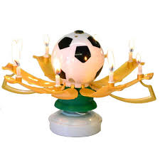 spinning birthday candle soccer musical birthday candle soccer trophy candle