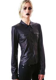 leather blouse eternal damnation faux leather blouse dolls kill