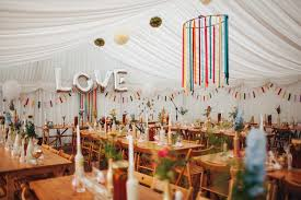colourful marquee wedding decor lancashire wedding venue spring