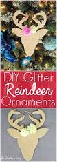 homemade christmas ornaments glitter reindeer the graphics fairy