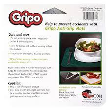 la cuisine uip gripo anti slip placemats 4 pack pre cut mat grip stops plates