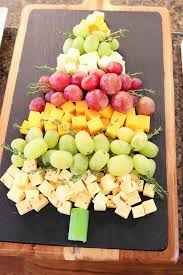 fruit and cheese tree appetizer food craft ideas
