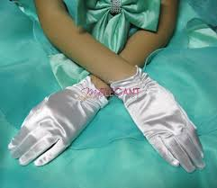 communion gloves white wedding flower communion pageant wrist satin