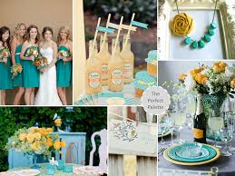 wedding colors color shades teal and weddings
