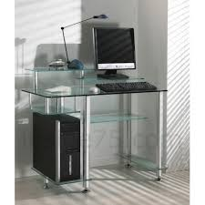 bureau transparent verre bureaux meubles et rangements desk bureau verre