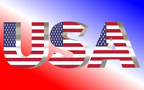 American Flag In Text Clipart Usa Flag Typography Shiny Pearl