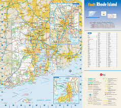Rhode Island national parks images Large detailed roads and highways map of rhode island state with jpg