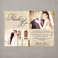Wedding Invitations Photo Cards Wedding Thank You Cards With Photo Thebridgesummit Co