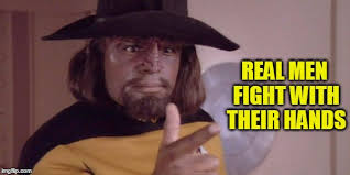 Meme Fight - star trek the next generation meme fight with their hands on