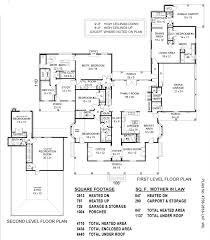 3 Car Garage With Apartment Plans One Story House Plans With Mother In Law Suite Home Designs