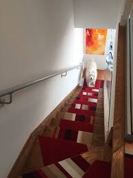 Modern Stair Tread Rugs Made Stair Treads From Flor Carpet Tiles So My Won T Slip