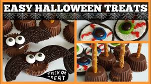easy halloween treats oreo eye balls witches brooms bat wings