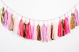 pink garland pink tassel garland request a custom order and something