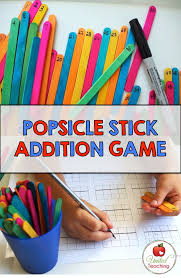popsicle stick addition game fun way to practice addition with