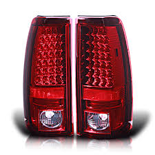 Spyder Red Clear Lens Euro Led Tail Lights For Chevy Silverado 1500
