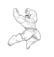 12 free printable the hulk coloring pages