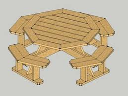 Plans For Picnic Table Bench Combo by Really Nice Looking Octagon Table You Can Make Yourself Www
