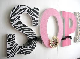 nursery letters custom nursery decor pink and black