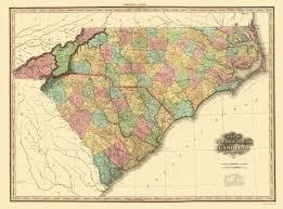 carolina world map state map carolina south carolina 1825