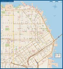 san francisco map downtown san francisco downtown map digital creative