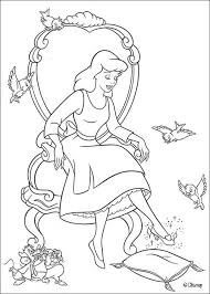 cinderella glass slipper coloring pages hellokids