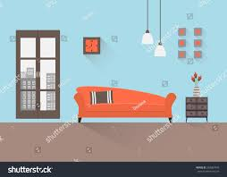 home interior interior design living room stock vector 259067645