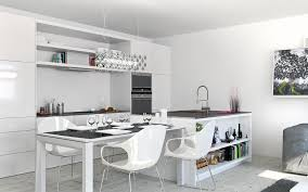 Modern White Kitchen Ideas Exquisite Marble Geometric Objects Blue And White Glass Bottle
