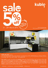 Kitchen Cabinets Clearance Sale Kubiq Kitchen Sale Up To 50 Off March 2016 Malaysia Megasales