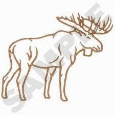 moose template opulent design moose outline images clip vector