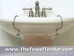pedestal sink towel bar the toweltender tm towel bar for pedestal sinks youtube