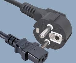 cee7 7 schuko plug to iec c13 europe power cord