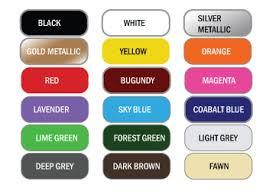 nissan colour chart