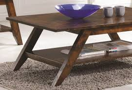 coffee table 3pc set in rustic pecan by coaster