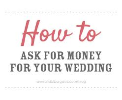 wedding gift honeymoon fund how to ask for money for your wedding