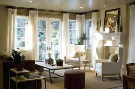 Living Room Curtain Ideas Living Room Bay Window Curtain Ideas Empty Interior Decoration On