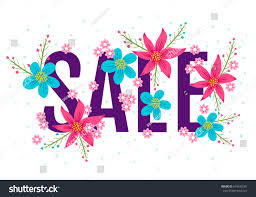 Flowers For Sale Vector Season Banner Spring Summer Sale Stock Vector 618543281