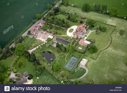 aerial view south east of private country houses gardens tennis