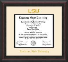 diploma framing lsu diploma frames and louisiana state graduation