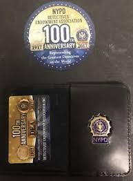 Nypd Business Cards 2017 Nypd Police Dea Pba Detective Card With Mini Badge And Wallet