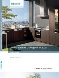 Einbauk He Teile Verkaufshandbuch Elektrofachhandel 2012 2013