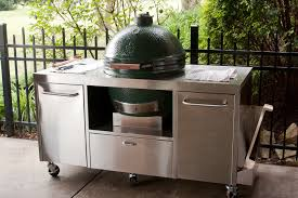 Custom Backyard Bbq Grills by Custom Big Green Egg Table Grilling With Charcoal Pinterest