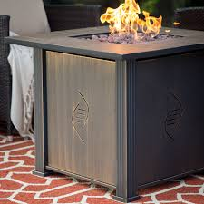 bond lari gas fire table with cover hayneedle