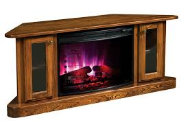 corner tv cabinet with electric fireplace cascadia corner electric fireplace tv stand from dutchcrafters amish
