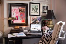 Glam Home Decor by The Decorista U0027s Eclectic Glam Home Office Sayeh Pezeshki La