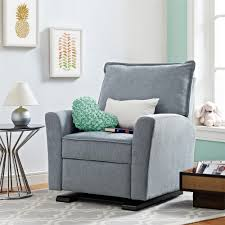 Stylish Recliner by Dorel Living Baby Relax Raleigh Gliding Recliner Gray