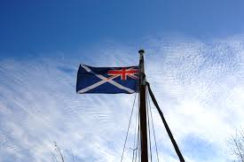 Flag Of The Uk Scotland In The Uk Ensign Professional Quality Flags By Mrflag