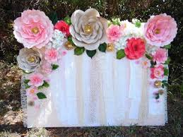 backdrop paper flower backdrop wedding wedding corners