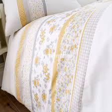interior design for garden reversible yellow duvet cover set