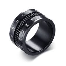 men s rings unique men s rings stainless steel slr lens ring for men